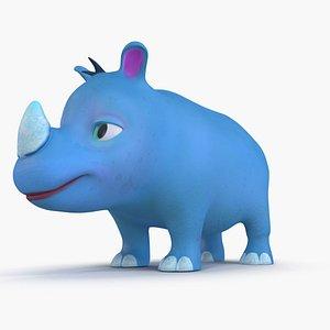 3D model blue animations