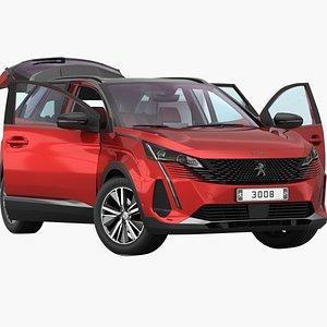 Peugeot 3008 2021 Opening doors and trunk 3D model