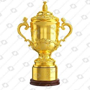 3D The Webb Ellis Cup Trophy model