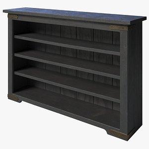 3D Rustic Bookcase model