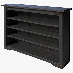 3D Rustic Bookcase 2020 model