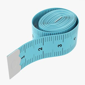 3D model Tailor measuring tape 02