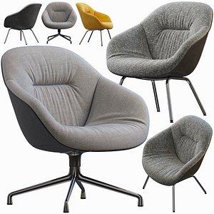 3D model Hay lounge armchair