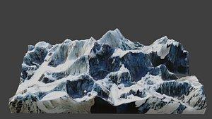 Kangchenjunga Mountain 3D