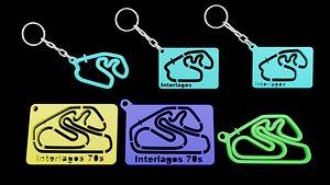 3D Track Formula 1 keychains InterlagosPrint 3d - Blender 3d