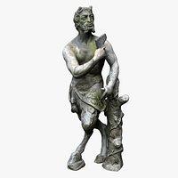 Satyr Greek God Statue