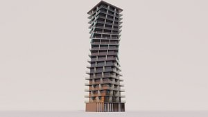 3D Twisted High-rise Building model