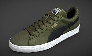 green puma suede shoe model
