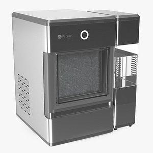 3D GE Profile Opal Countertop Nugget Ice Maker Silver model