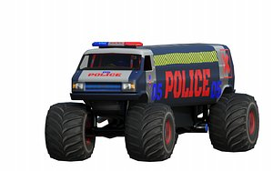 Police Limo 3D model