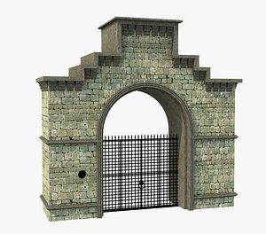 3D model Classic Old Gate
