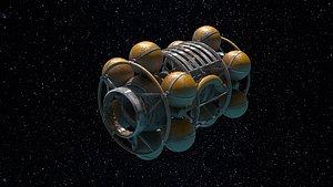 3D vehicle spaceship model