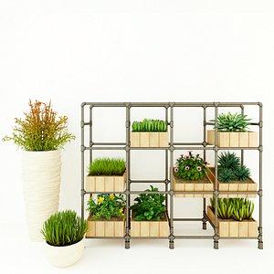 Planter Rack PB4 3D model