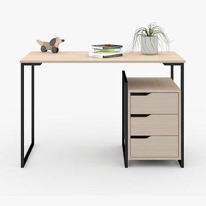 Desk in home D7 3D