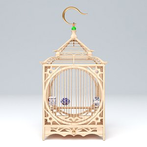 3D CHINESE BIRD CAGE 02 model