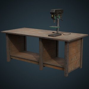 drill press workbench 3D model