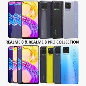 3D Realme 8 and Realme 8 Pro Collection model