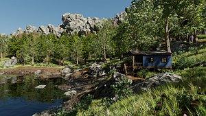 Cabin Scene 3D model