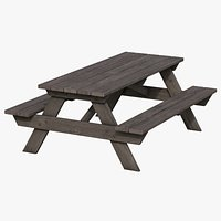 Picnic Table 01 - Old