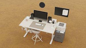 Office workplace 3D model