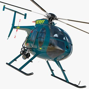MD 500E Sheriff Helicopter 3D