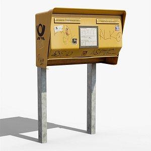 3D Orts-Fern-Briefkasten - a typical Berlin mailbox model