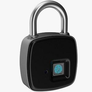 modern fingerprint padlock 1 3D model