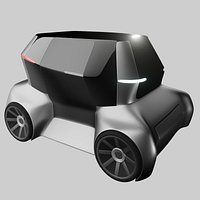 Compact electric concept styled car 16