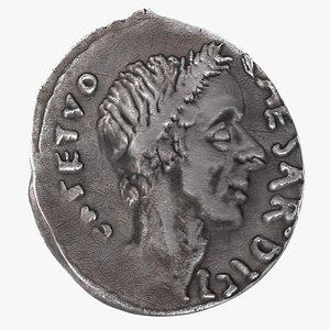 3D model Denarius Ancient Roman Silver Coin