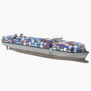Container Ship Loaded 3D model