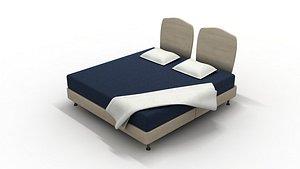 bed furniture furnishings 3D model