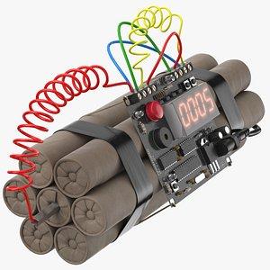 bomb 01 5 sec 3D model