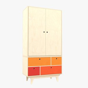 Plywood wardrobe 3D model
