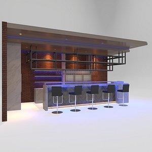 3D model Bar 1