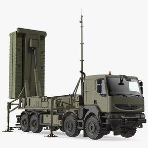 Mobile Medium Range Air Defense Missile System Armed Position 3D