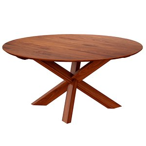 3D Apex Walnut 64 Round Dining Table