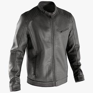 3D leather jacket mens model
