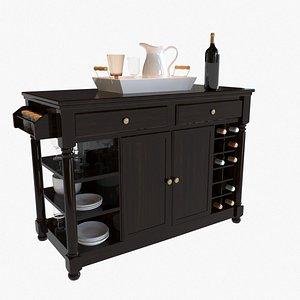 3D Portable Kitchen Island model
