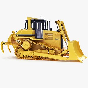 3d model of dozer bulldozer