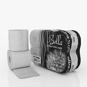 3D paper 6 rolls model