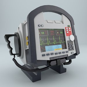 3D corpuls defibrillator model