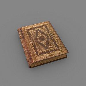 manuscript old book 3D model