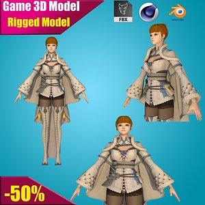 female character agent 3D model