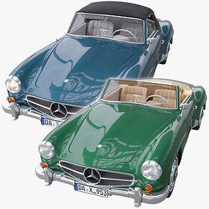 3D Mercedes Benz 190 SL plus model