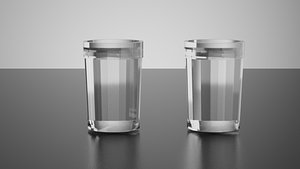Copo Americano Brazilian Glass 3D model