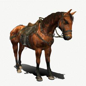 Medieval Horse 3D model