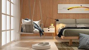 room bedroom modern 3D