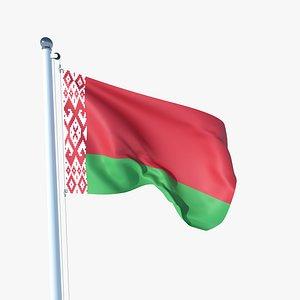 Animated Flag of Belarus 3D model