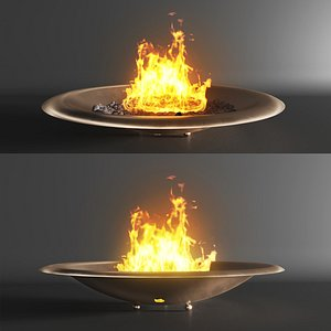 3D Firebowl bronze by Firefeatures model