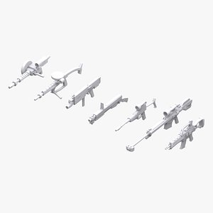 3D gundam zeon weapon